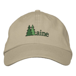Maine Pine Tree Embroidered Hat