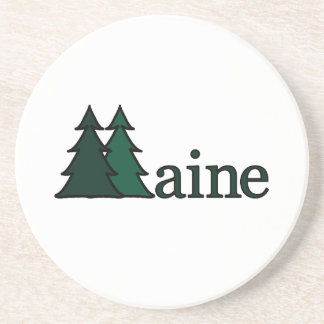 Maine Pine Trees Coaster
