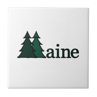 Maine Pine Trees Tile