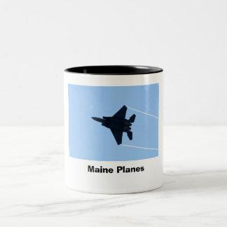 Maine Planes Two-Tone Mug