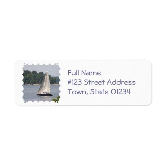 Maine Sailing Mailing Label Return Address Label