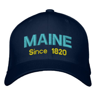 Maine Since 1820 Cap Embroidered Baseball Cap