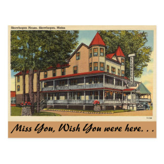 Maine, Skowhegan House, Skowhegan Postcard
