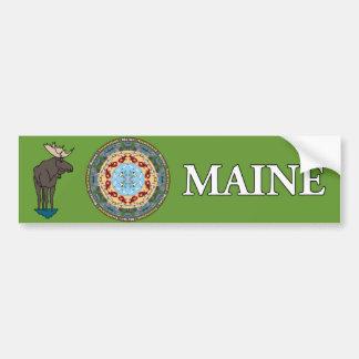 Maine State Mandala Bumper Sticker