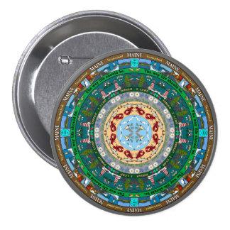 Maine State Mandala Pin