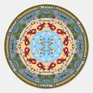 Maine State Mandala Sticker