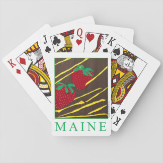 """""""MAINE"""" Strawberries Deck of Playing Cards"""