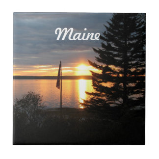 Maine Sunset Ceramic Tile