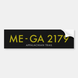 Maine to Georgia 2179 Miles - Appalachian Trail Bumper Sticker