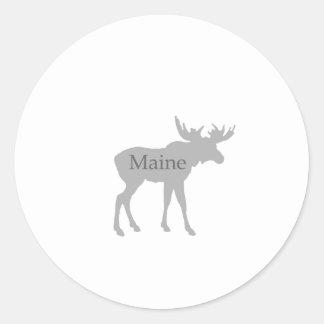 Maine USA Logo (moose) Stickers