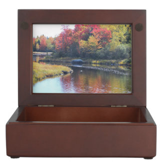 Maine Waterscape Reflections Memory Box