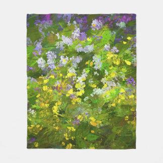 Maine Wildflowers Fleece Blanket