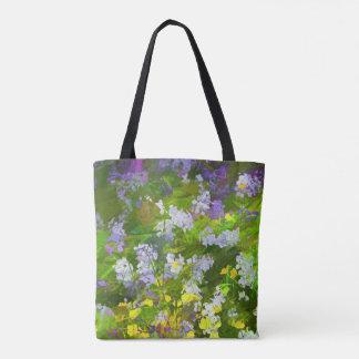 Maine Wildflowers Painting - Original Flower Art Tote Bag