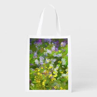 Maine Wildflowers Reusable Grocery Bag
