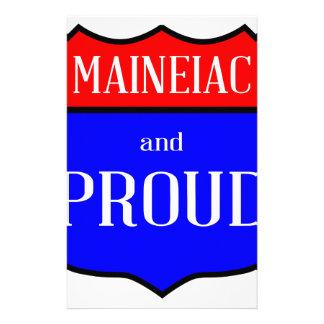 Maineiac And Proud Stationery