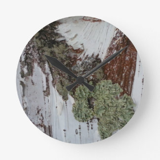 Mainely Birch Round Clock