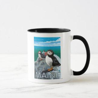 MainePuffins Scene Mug