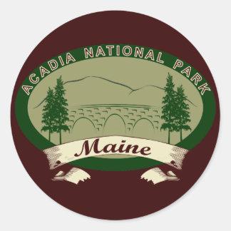 Maine's Acadia National Park Classic Round Sticker
