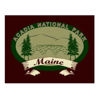 Maine's Acadia National Park Postcard