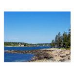 Maine's Coastal Landscape Postcard