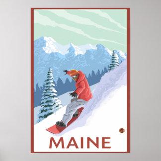 MaineSnowboarder Scene Poster