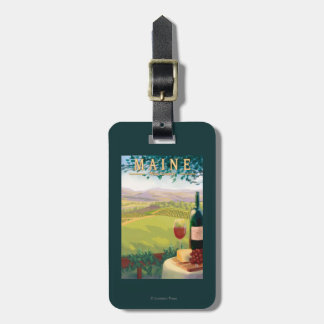 MaineWine Country Scene Luggage Tag