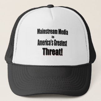 Mainstream Media is America's Greatest Threat! Trucker Hat