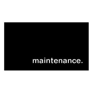 Maintenance Business Card