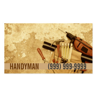 Maintenance, Construction, Handyman Business Card