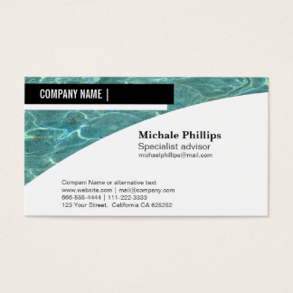 MAINTENANCE OF SWIMMING POOLS SWIMMING POOL BUSINESS CARD