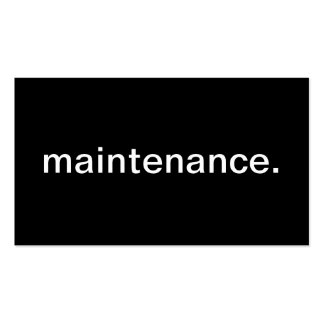 Maintenance Pack Of Standard Business Cards