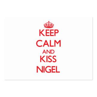 Maintenez calme et baiser Nigel Cartes De Visite Professionnelles