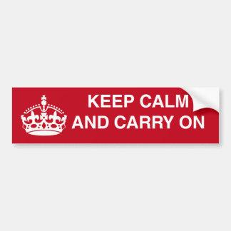 Maintenez calme et continuez l'adhésif pour pare-c adhésif pour voiture