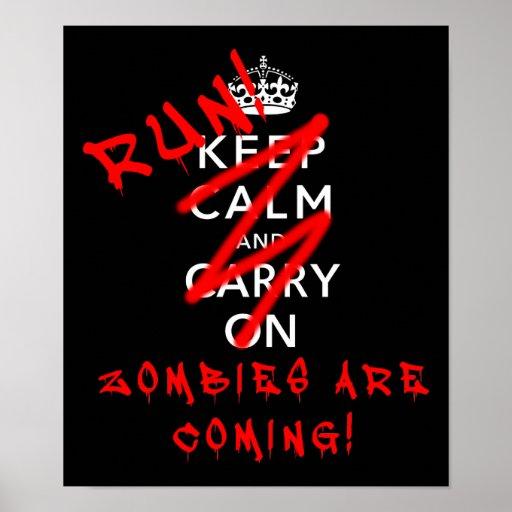 Maintenez calme et continuez le signe drôle d'affi posters