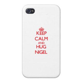 Maintenez calme et ÉTREINTE Nigel Coque iPhone 4