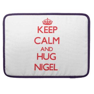 Maintenez calme et ÉTREINTE Nigel Housse MacBook Pro