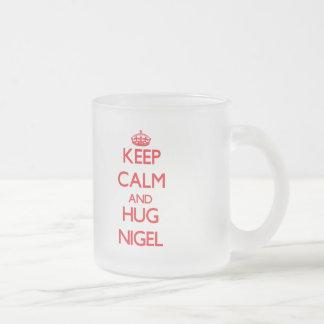 Maintenez calme et ÉTREINTE Nigel Mugs À Café
