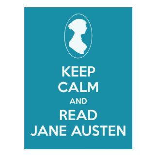 Maintenez calme et lisez la camée Teal de Jane Aus Cartes Postales