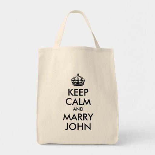 Maintenez calme et mariez le sac de John
