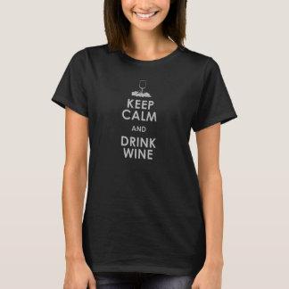 Maintenez dri calme et de boissons de cuve de t-shirt