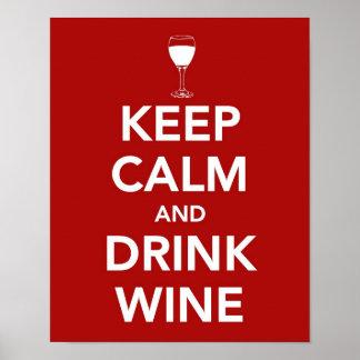 Maintenez vin calme et de boissons