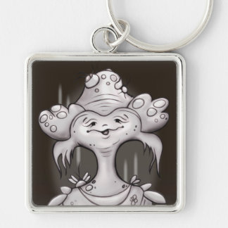 MAIRA CUTE ALIEN BUTTON  Premium Square Keychain L