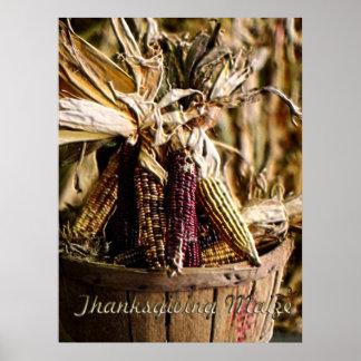 Maïs de thanksgiving poster