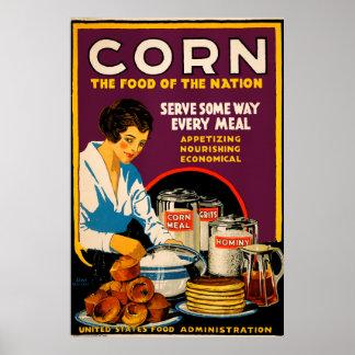 Maïs - la nourriture de la nation poster