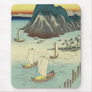 Maisaka, Japan: Vintage Ukiyo-e Woodblock Print Mouse Pad