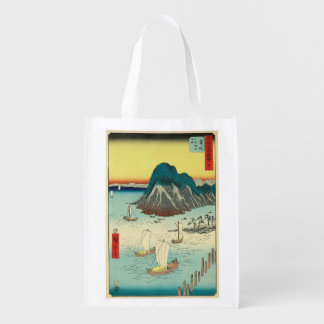 Maisaka, Japan: Vintage Woodblock Print Reusable Grocery Bag