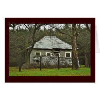 Maison abandonnée - carte pour notes