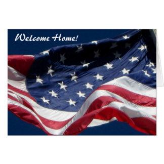 Maison bienvenue ! Et Merci - carte de voeux