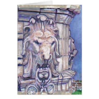 Maison Blanche Building Lion Head Card