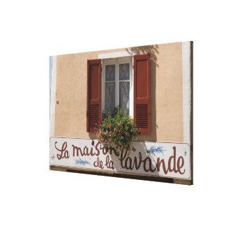 Maison de la Lavande, Place du Couwert, Canvas Print